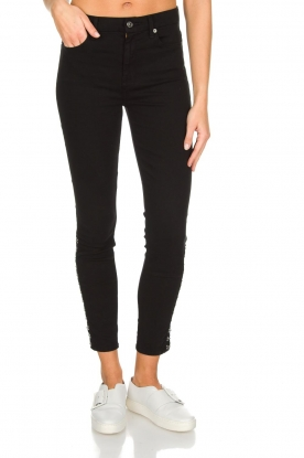 7 For All Mankind | High waist stretch jeans Adeline | zwart