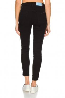 7 For All Mankind | High waist stretch jeans Adeline | zwart