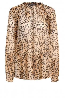 Set | Animal print blouse Annora | brown