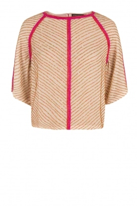 Antik Batik |  Semi-sheer blouse Louison | pink