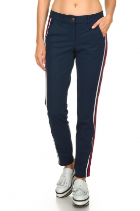 Par 69 |  Golf trousers with sporty stripes Bucci | Blue