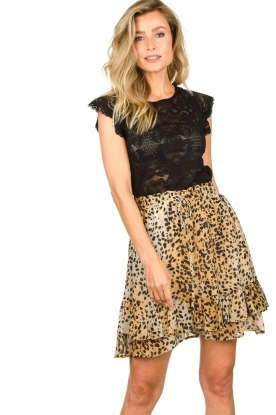 Set |  Animal print skirt Ayana | brown