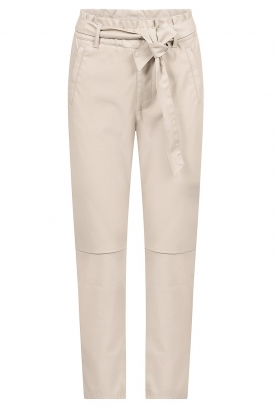 Knit-ted |  Faux leather pants Frida | natural