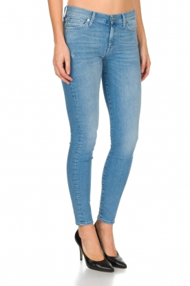 7 For All Mankind | Super skinny stretch jeans Amelia | blauw