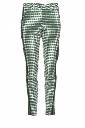 Par 69 |  Golf pants with Escher print Ballot | green