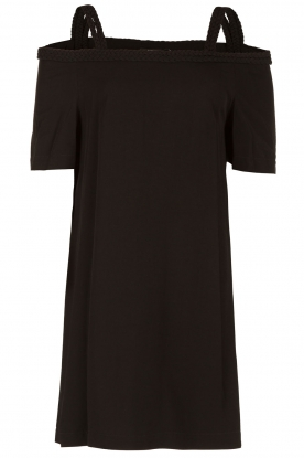 NIKKIE   Off-shoulder jurk Sutton Bardot   zwart