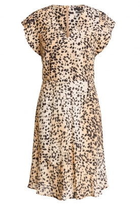 Set |  Animal print dress Anouk | brown