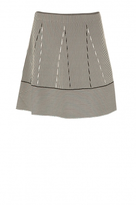 NIKKIE |  Stripes skirt Jamilla | black/white
