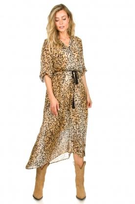 Set |  Animal print maxi dress Aurora | brown
