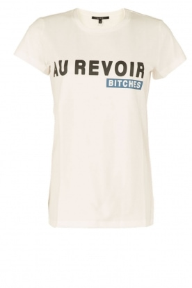 NIKKIE |  T-shirt Au Revoir Bitches | white