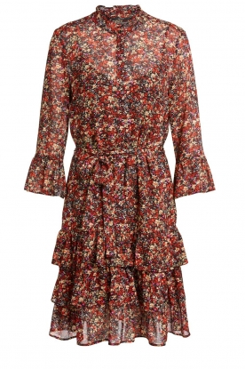 Set | Floral dress Annyck | red