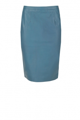 NIKKIE |  Lambs leather pencil skirt Denise | blue