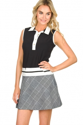 Par 69 |  Golf dress with checkered skirt Beaudille | print