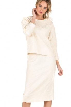 Tara Jarmon |  Pencil skirt Sandy | creme