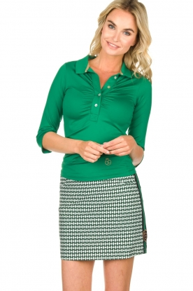 Par 69 |  Golf skirt with Escher print Bellugia | green