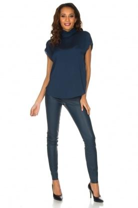 By Malene Birger | Leren legging Elenasoo | donkerblauw