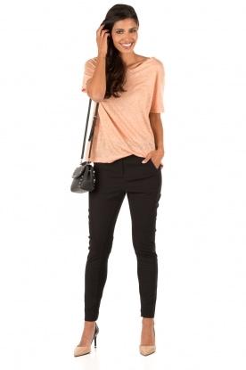 Linen T-shirt Ivonna | pink