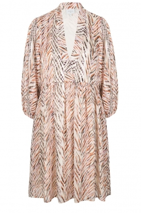 Dante 6 |  Zebra print dress Sulmona | natural