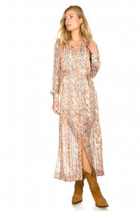 Dante 6 |  Zebra print maxi dress Loras | natural