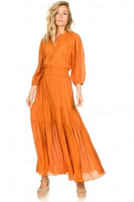 Dante 6 | Maxi-jurk met ruches Marais | oranje