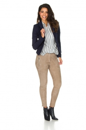 Sessun | Gestreepte blouse Pintor | naturel