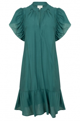 Dante 6 | Dress with puff sleeves River | green