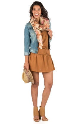 IKKS | Lace-up jurk Caro | camel