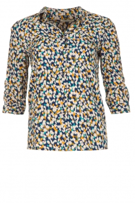 Sessun |  Blouse with colourful print | multi