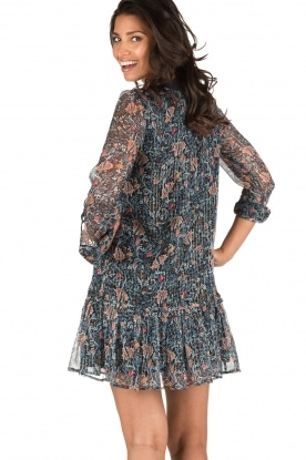 IKKS | Zijden jurk Florence | blauw
