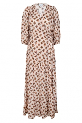 Dante 6 |  Printed maxi dress Poetic | brown