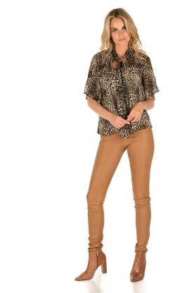 IKKS | Zijden pussybow blouse Lena | print