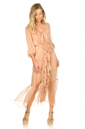 Dante 6 |  Ruffle maxi dress Royalty | nude