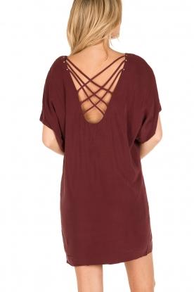IKKS | Zijden jurk Hanna | bordeaux rood