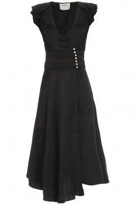 BA&SH Midi-jurk Coralie  zwart