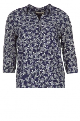 Sessun |  Blouse Mina with unique print | dark blue
