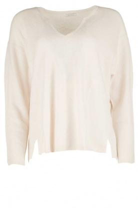 IKKS |  Sweater Naan V-neck | white