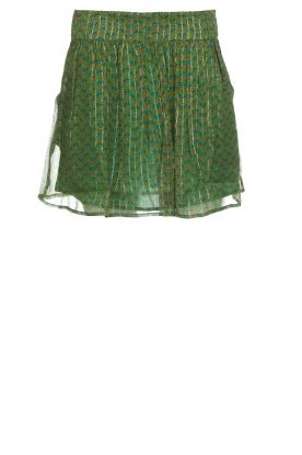 ba&sh |  Printed skirt with lurex West | green