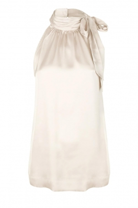 Dante 6 |  Satin halter top Florence | natural