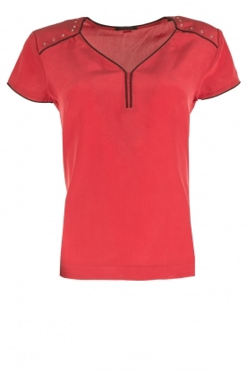 IKKS |  Siklk top Bright | red