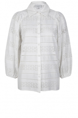 Dante 6 | Ajour blouse Laureene | white