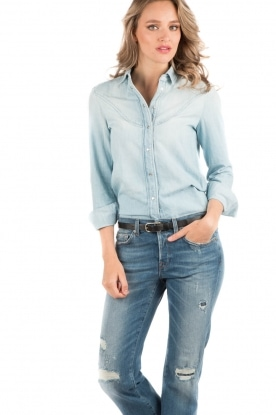 7 For All Mankind | Denim blouse Rodeo | light blauw