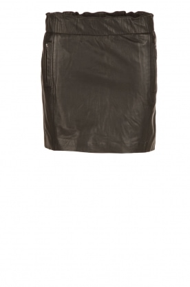 IKKS |  Leather skirt Claudia | black