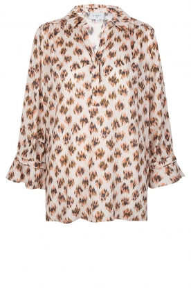 Dante 6 | Print blouse Willow | brown