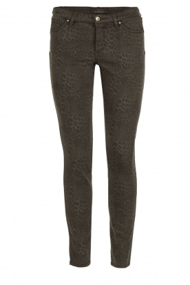 IKKS |  Jeans with leopard print Verle | grey