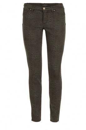 IKKS | Jeans met luipaardprint Verle | grijs