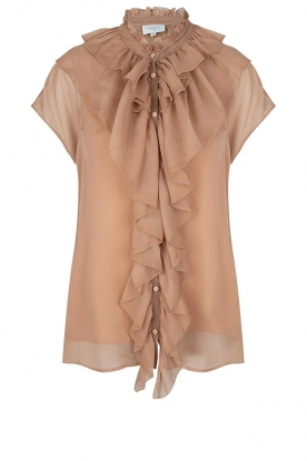 Dante 6 |Ruches blouse Anya | nude