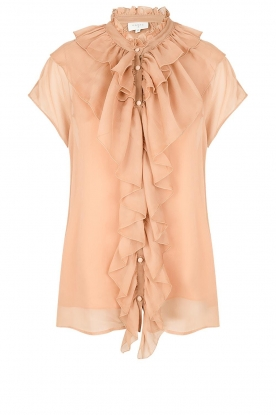 Dante 6 | Ruches blouse Anya | nude