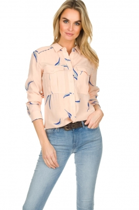 ba&sh | Blouse met print Terry | nude
