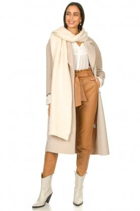Dante 6 |  Leather paperbag pants Duncan | camel