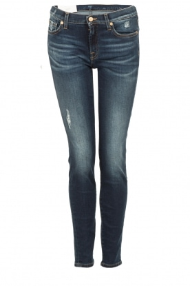 7 For All Mankind | The Skinny Charlotte Blue lengtemaat 32 | blauw